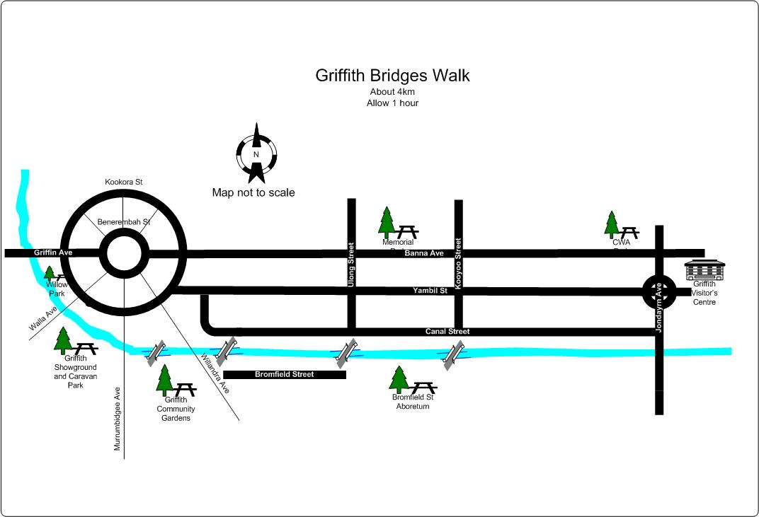 Download the map of the Bridges Walk