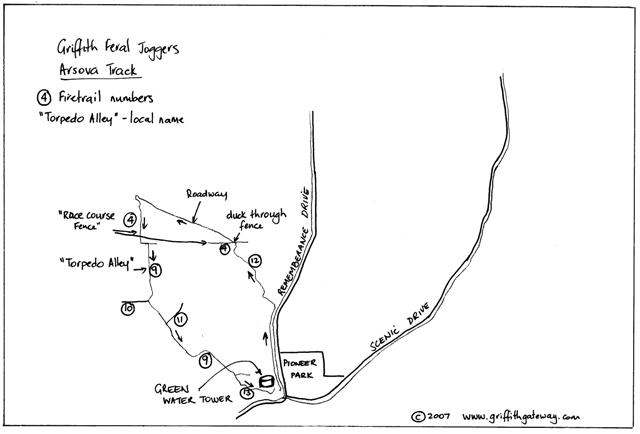 Griffith Feral Joggers Arsova competition map